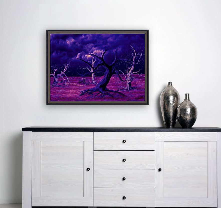 PURPLE FOREST with Floating Frame