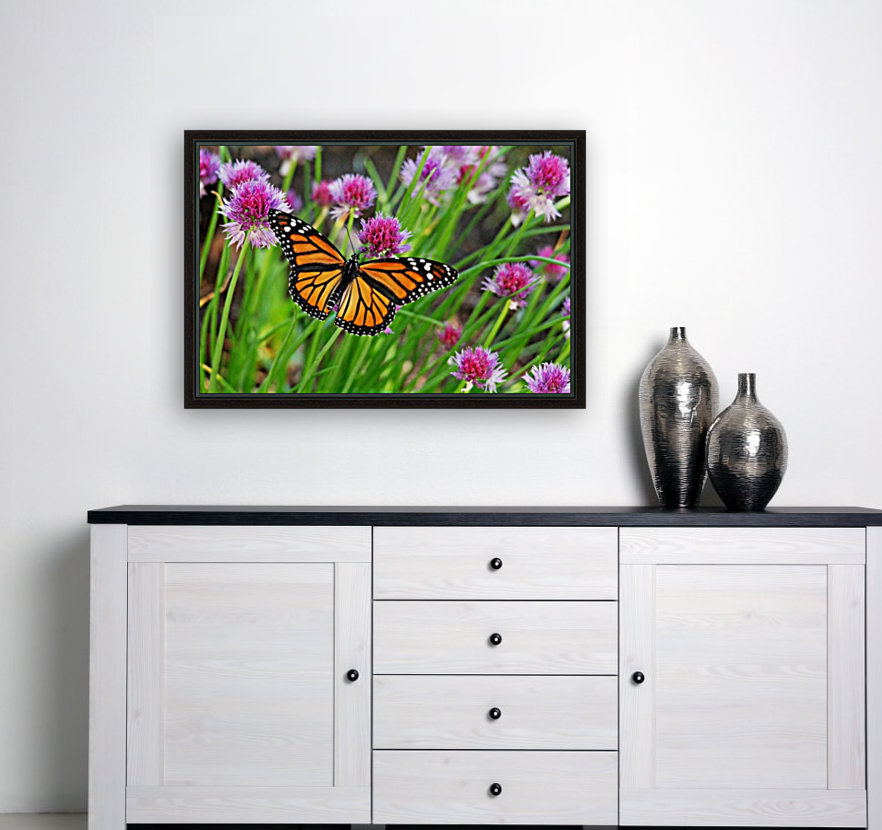 Monarch And Chives  Art