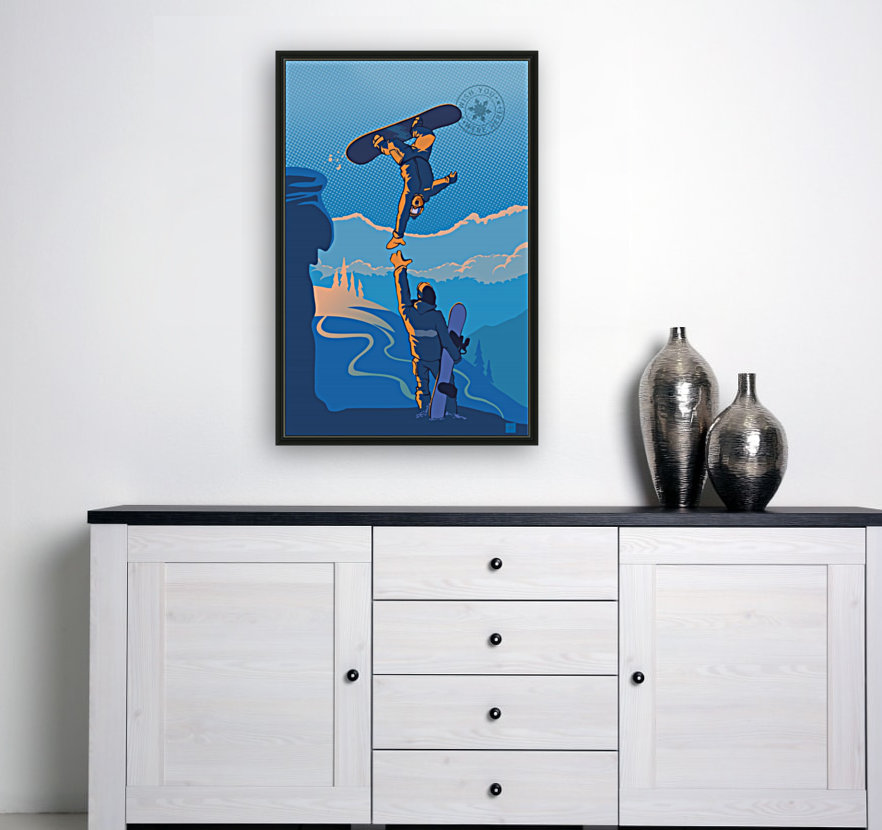 snowboard highfive with Floating Frame