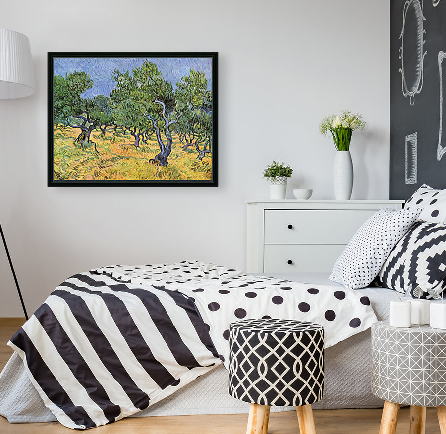 Olive Trees by Van Gogh with Floating Frame