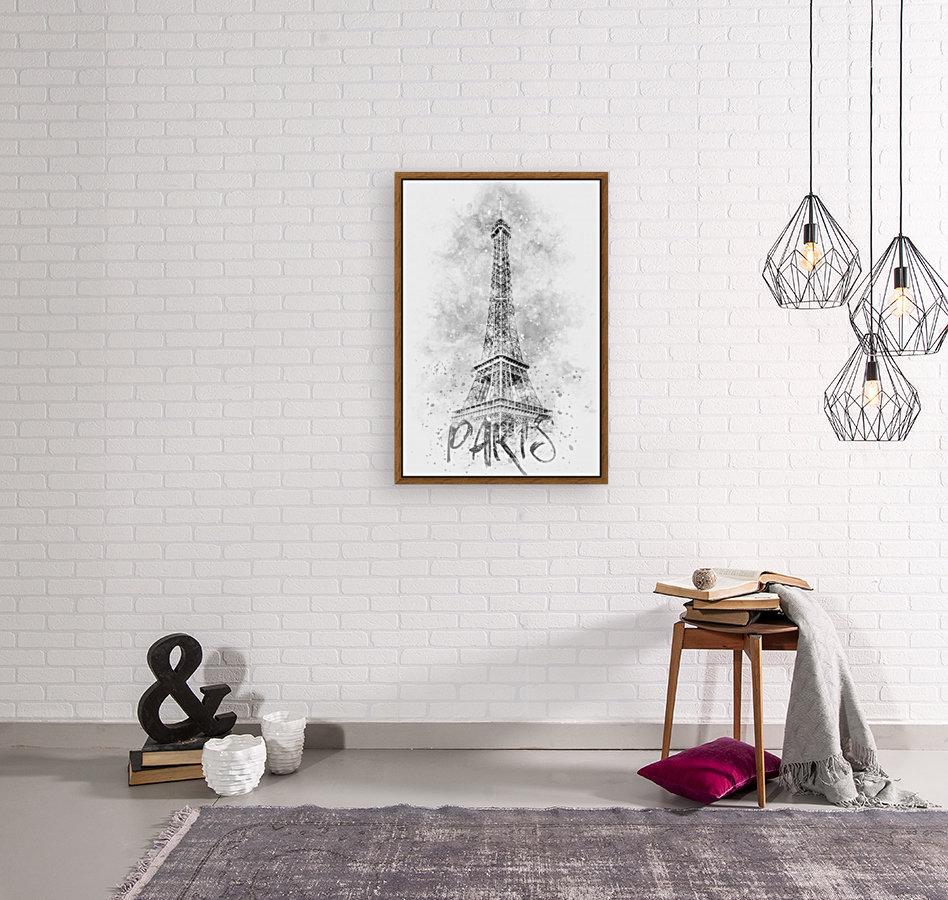 Monochrome Art EIFFEL TOWER | watercolor  Art