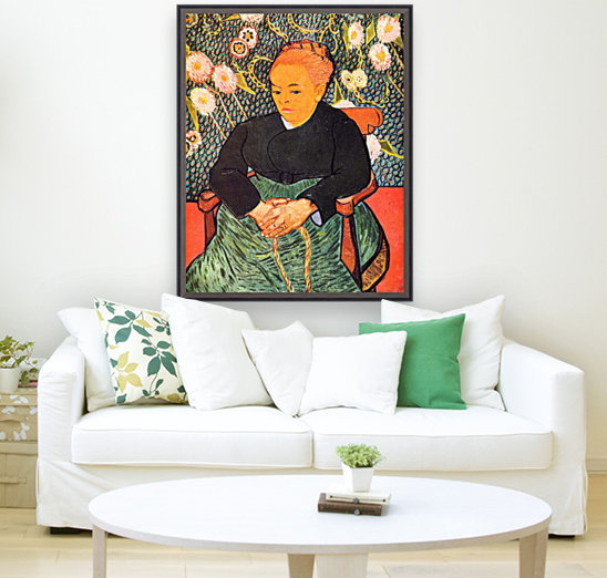 Portrait of Augustine Roulin (La Berceuse by Van Gogh with Floating Frame