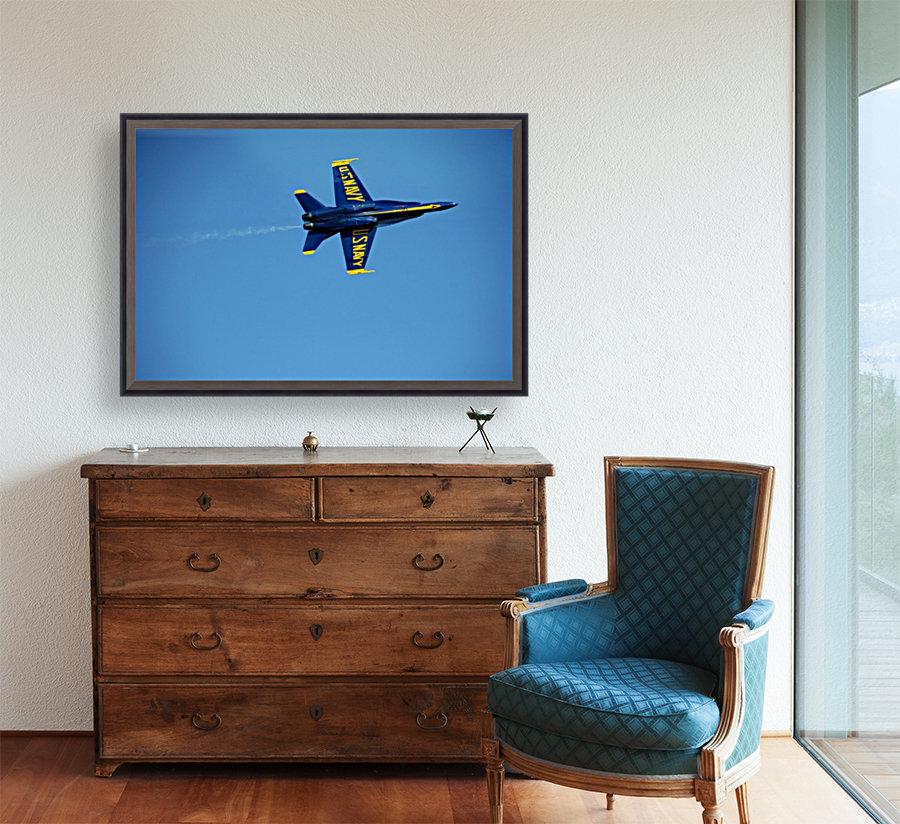 Single USN Blue Angel Flying  Art