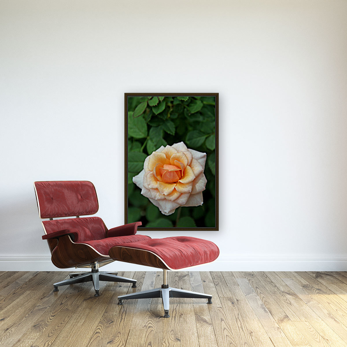 Pretty as a Rose with Floating Frame
