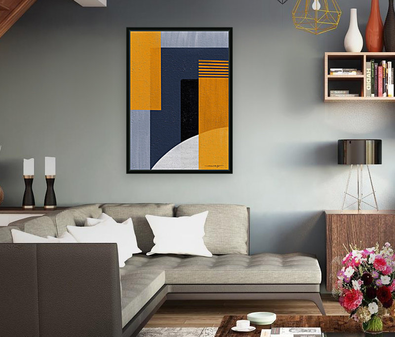 Abstract Geometric Space 1  Art