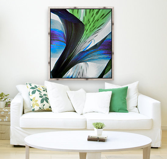 Vibrant Iris with Floating Frame