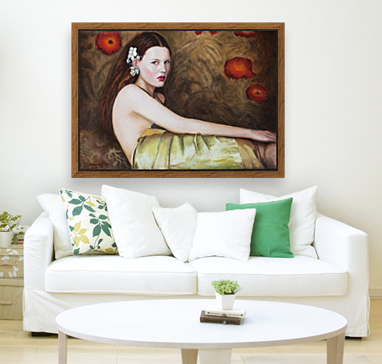 Woman with flowers for all season  Art