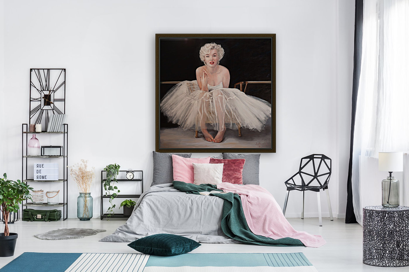 Marilyn in white ballet dress 1  Art