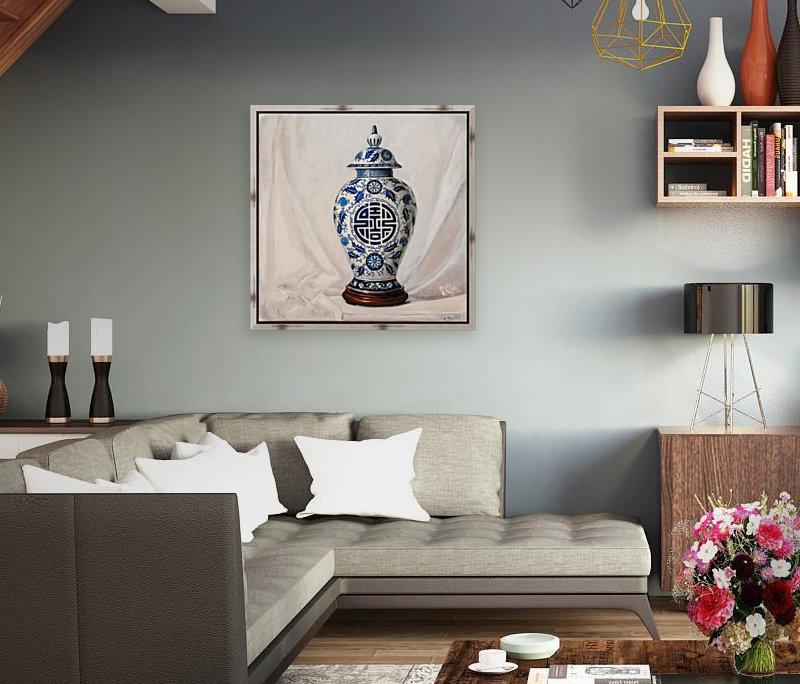 Blue and white vase   Art