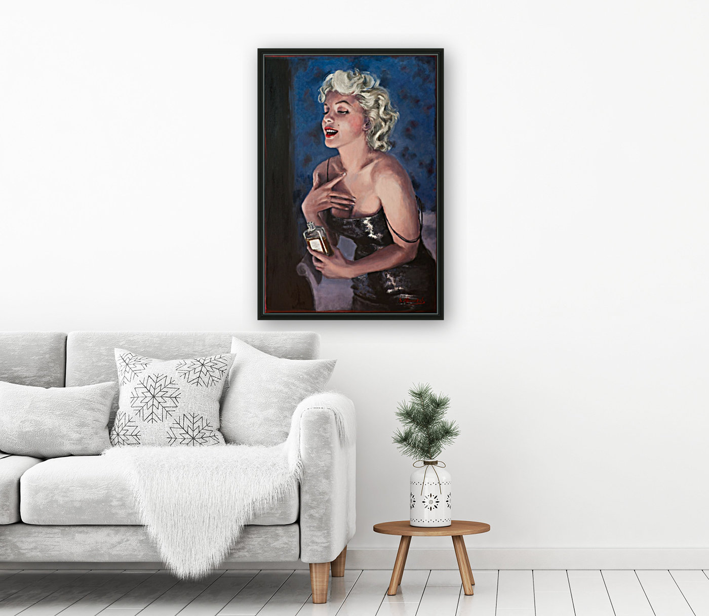 Marilyn in CHANEL 5 oil painting portrait 1  Art