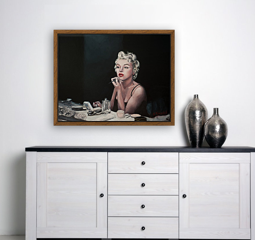Marilyn backstage  oil painting  portrait 1  Art