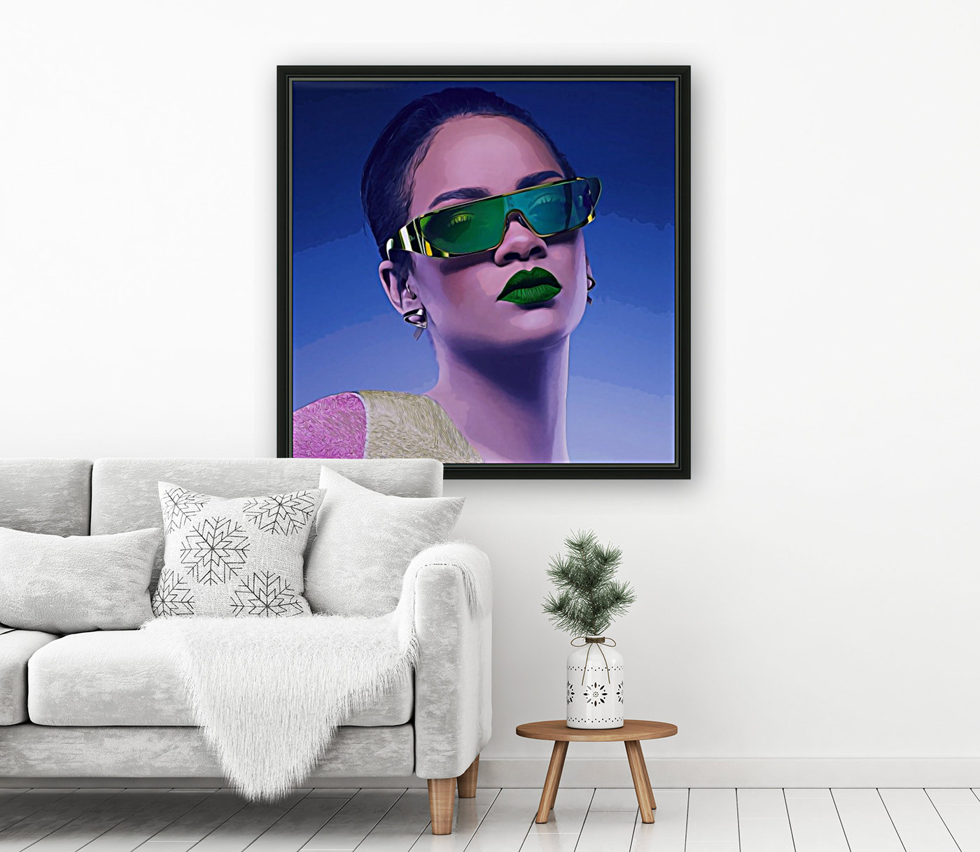 Rihanna with Floating Frame