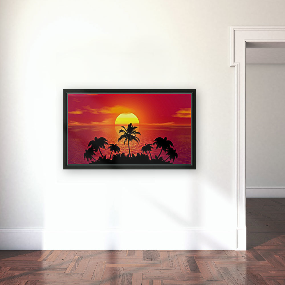 tropical sunset summer sun palm tree hot climate night  Art