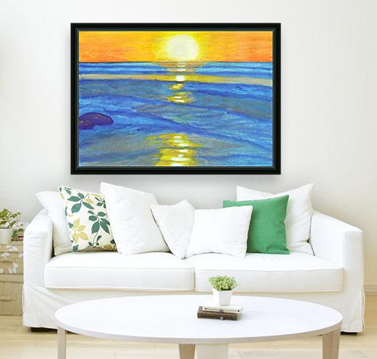 Sunset and ocean waves  Art