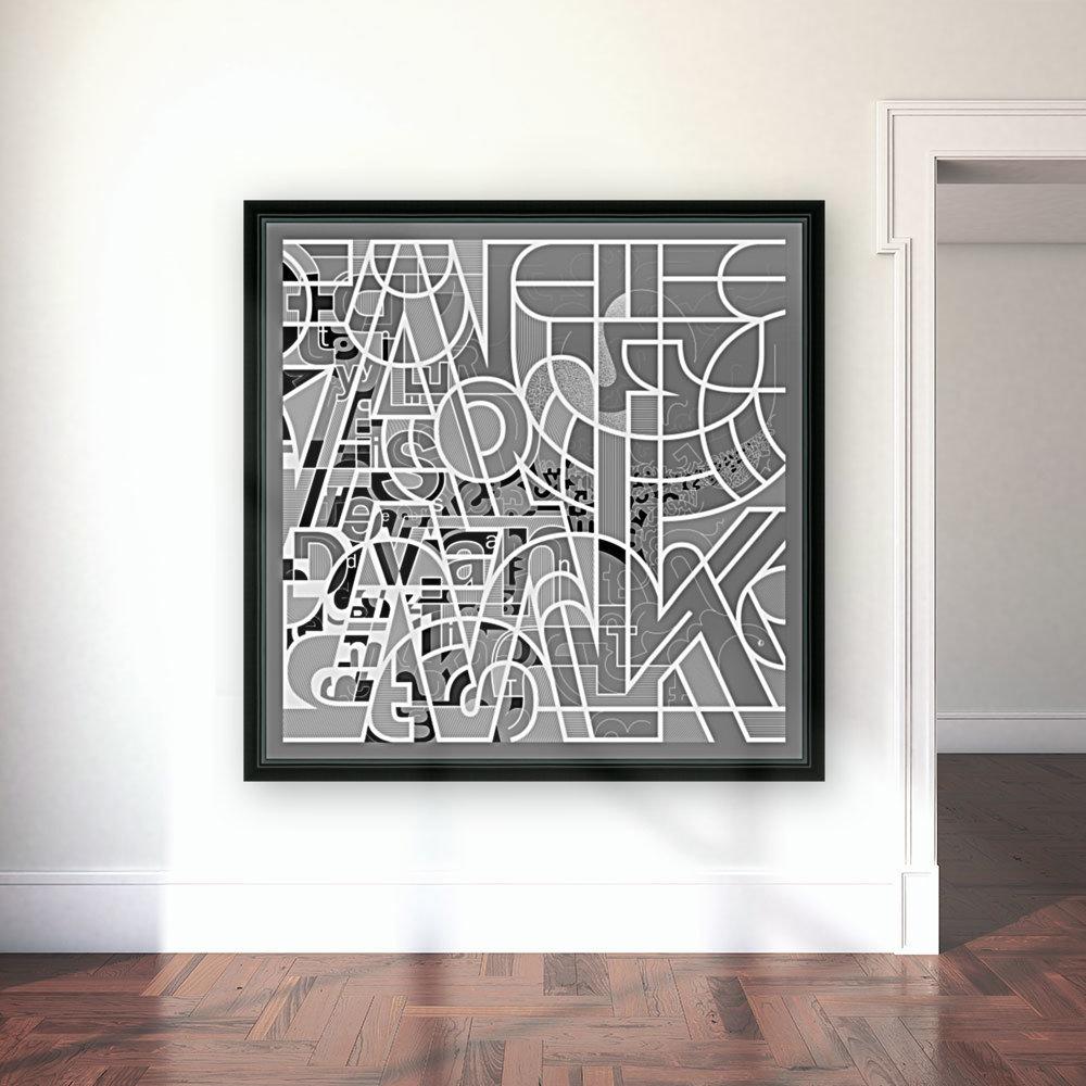 Type Is Deviant - Typography Art Print  Art
