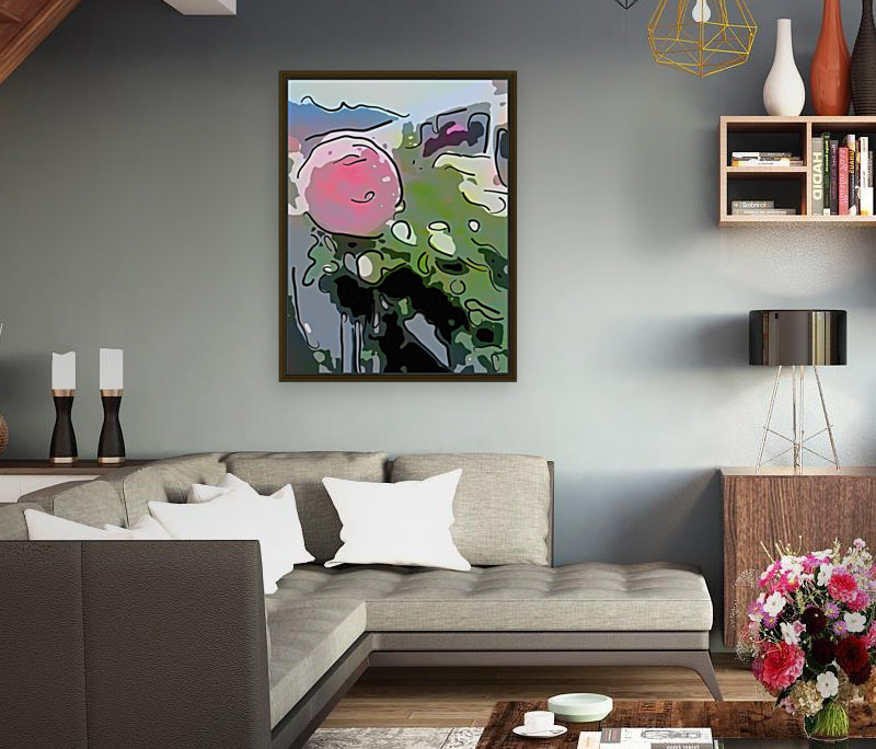 Pink Rose Garden on Braddock Drive with Floating Frame