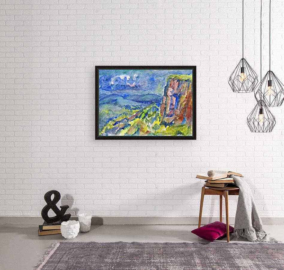 Summer landscape with cliff  Art