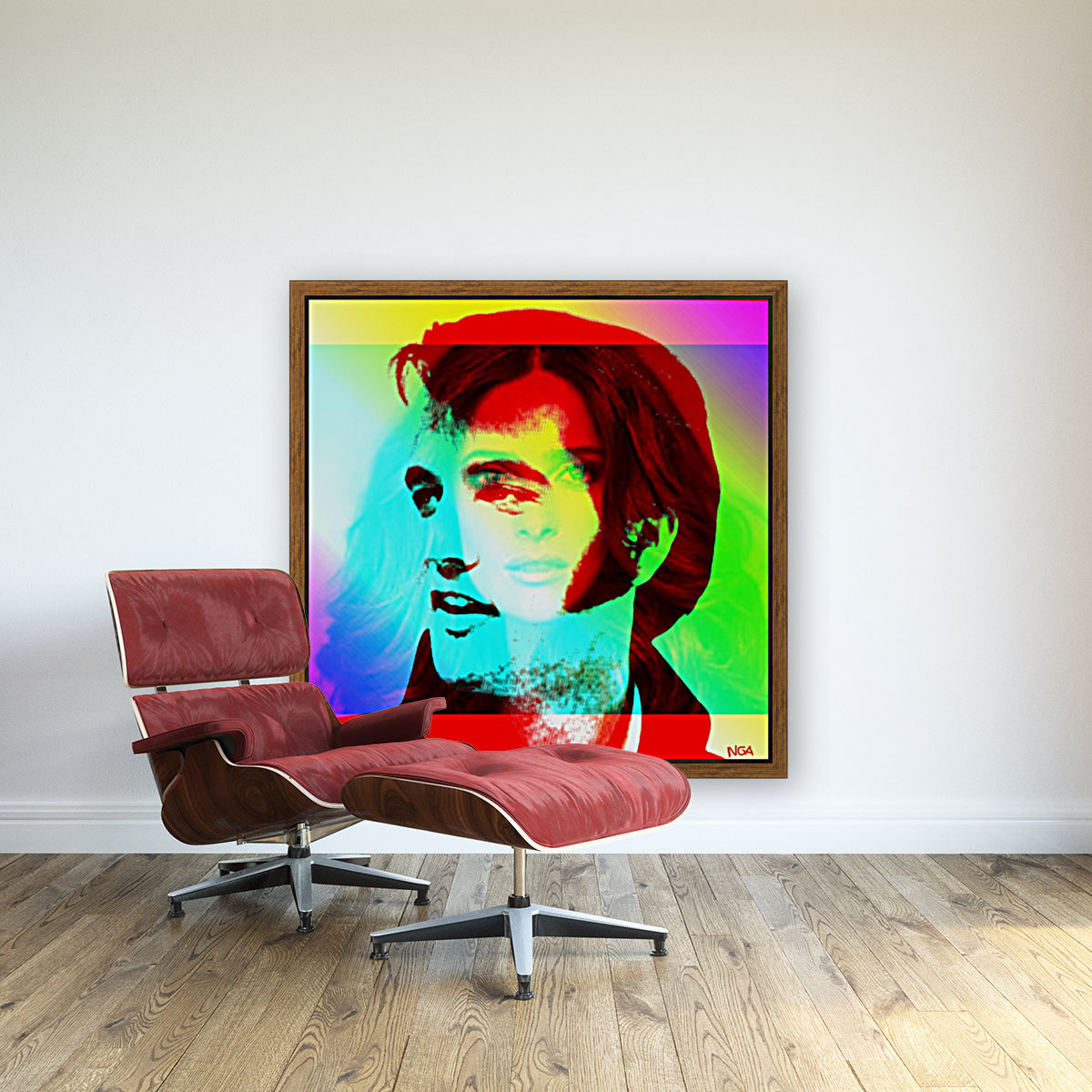 Elvis -Always on my Mind by Neil Gairn Adams with Floating Frame