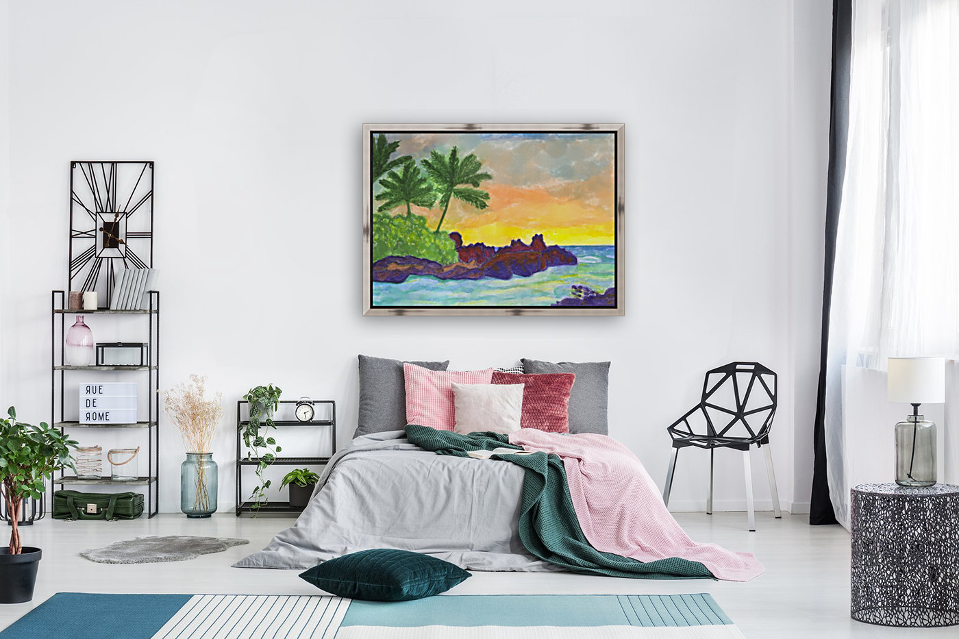 Tropical island in the ocean  Art