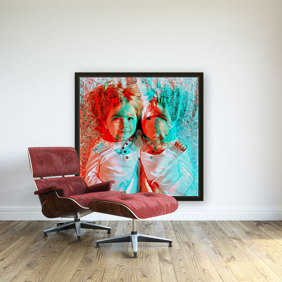 Baby Love  -  by Neil Gairn Adams with Floating Frame