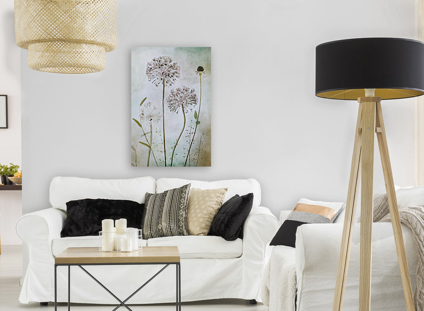 Allium with Floating Frame