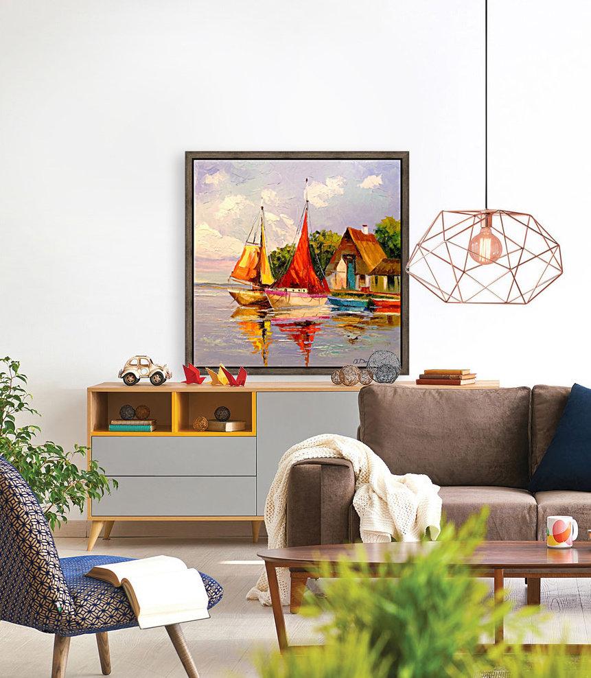 Sailboats near the shore  Art