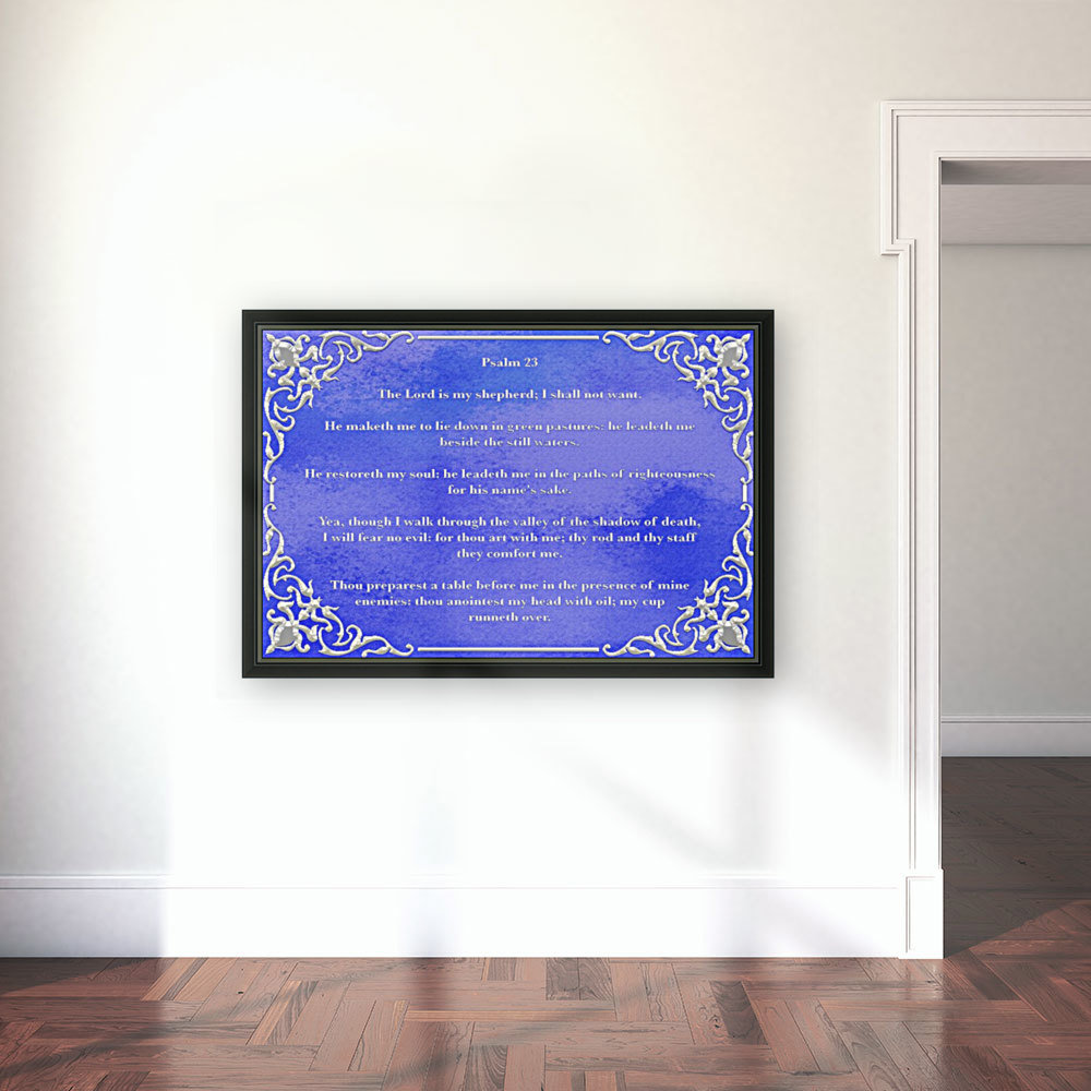Psalm 23 1BL with Floating Frame