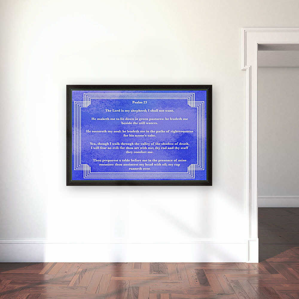 Psalm 23 2BL with Floating Frame