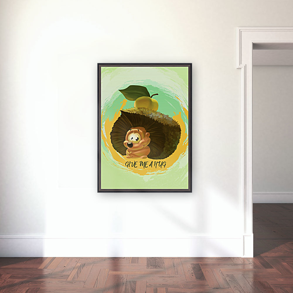 Cute Hedgehog with Floating Frame
