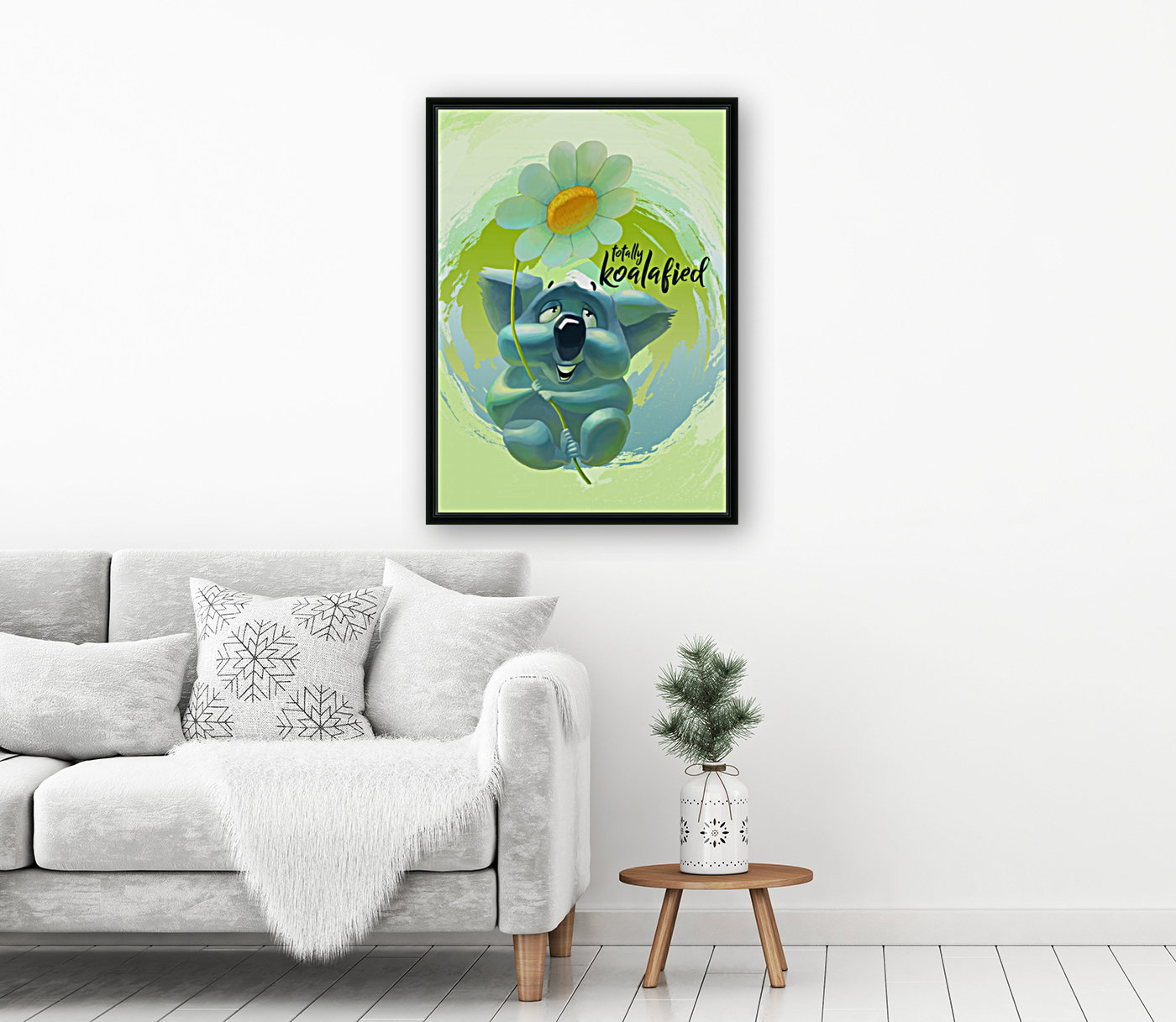 Cute Koala with Floating Frame