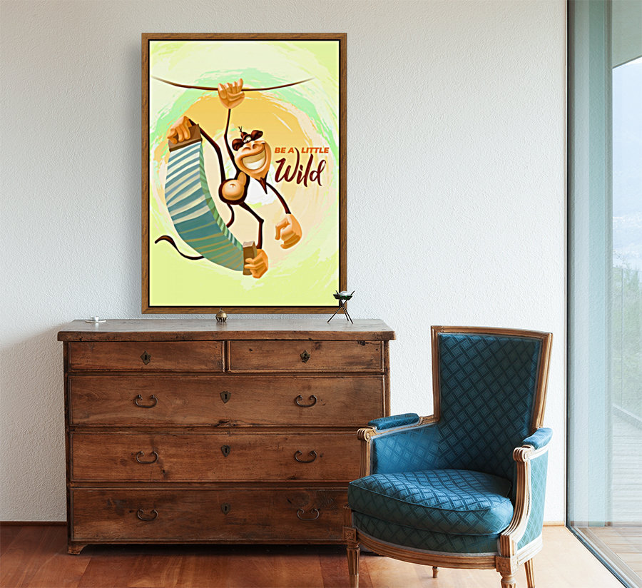Be a little wild Monkey with Floating Frame