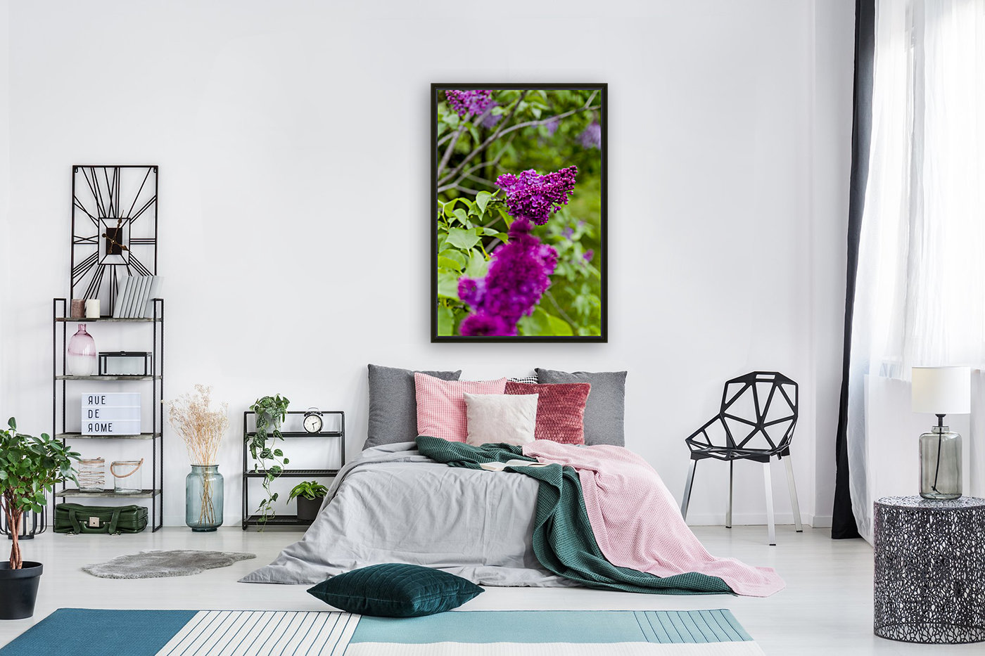 Purple Lilac Blossoms 2  Art