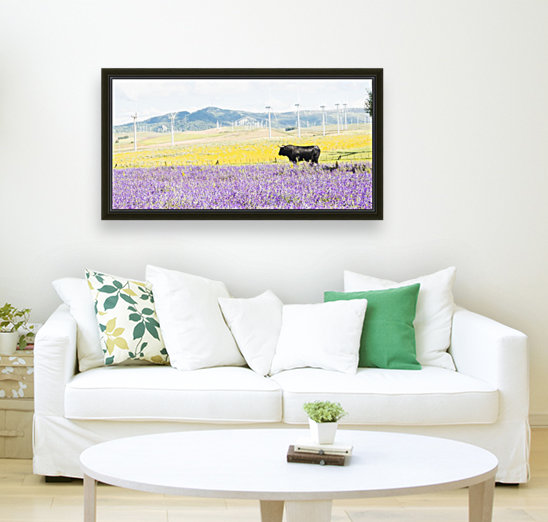 BULL AMONGST FLOWERS  Art