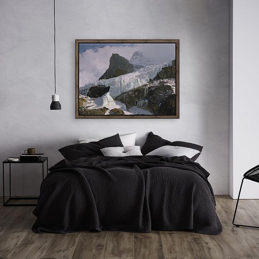 Athabaska Glacier Digital Painting 52 70 200px  Art