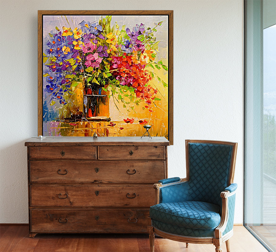 A bouquet of wild flowers with Floating Frame