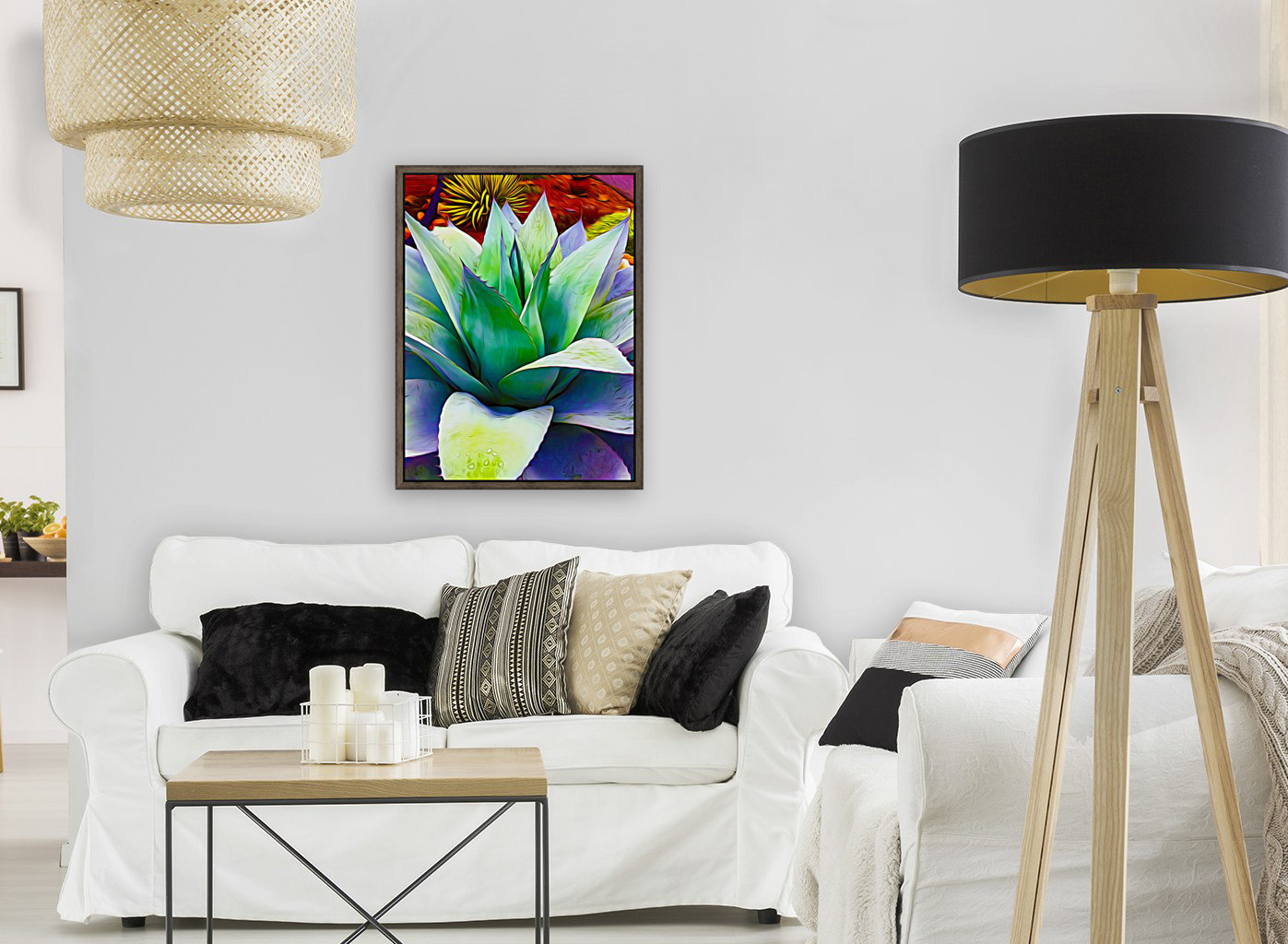 Succulent Dewdrop with Floating Frame