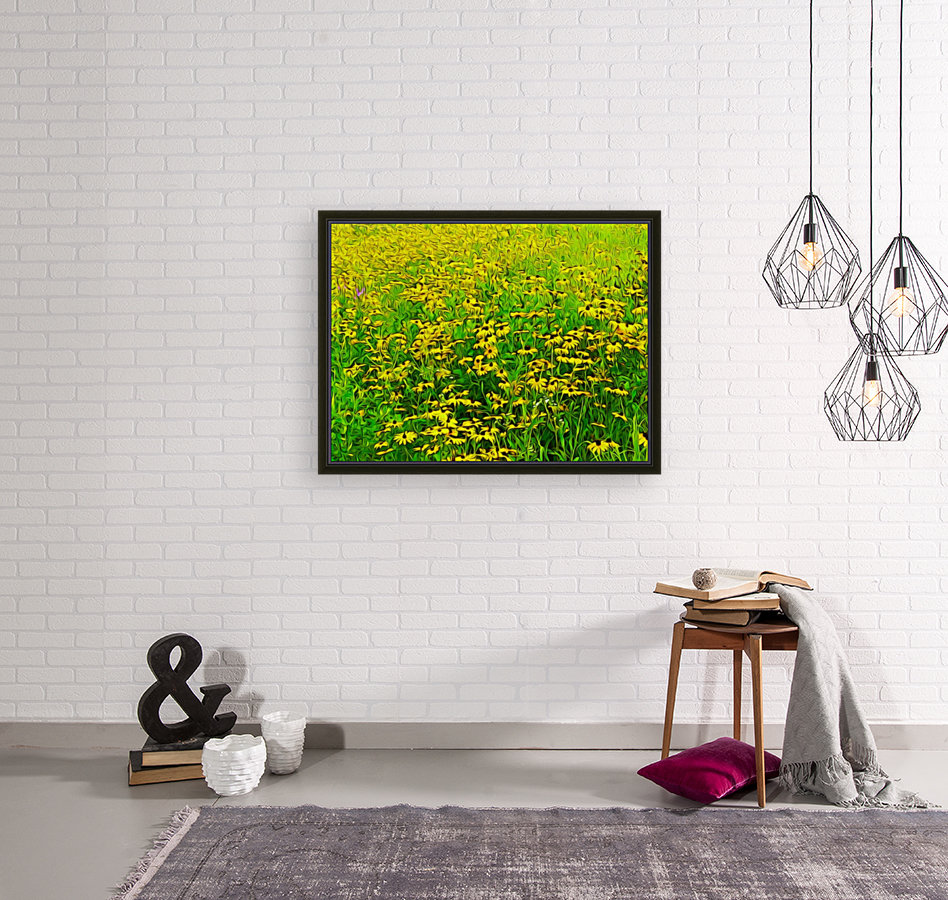 Field Of Flowers with Floating Frame