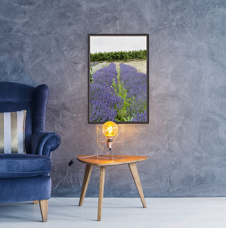 Lavender plants and fruit trees 6  Art