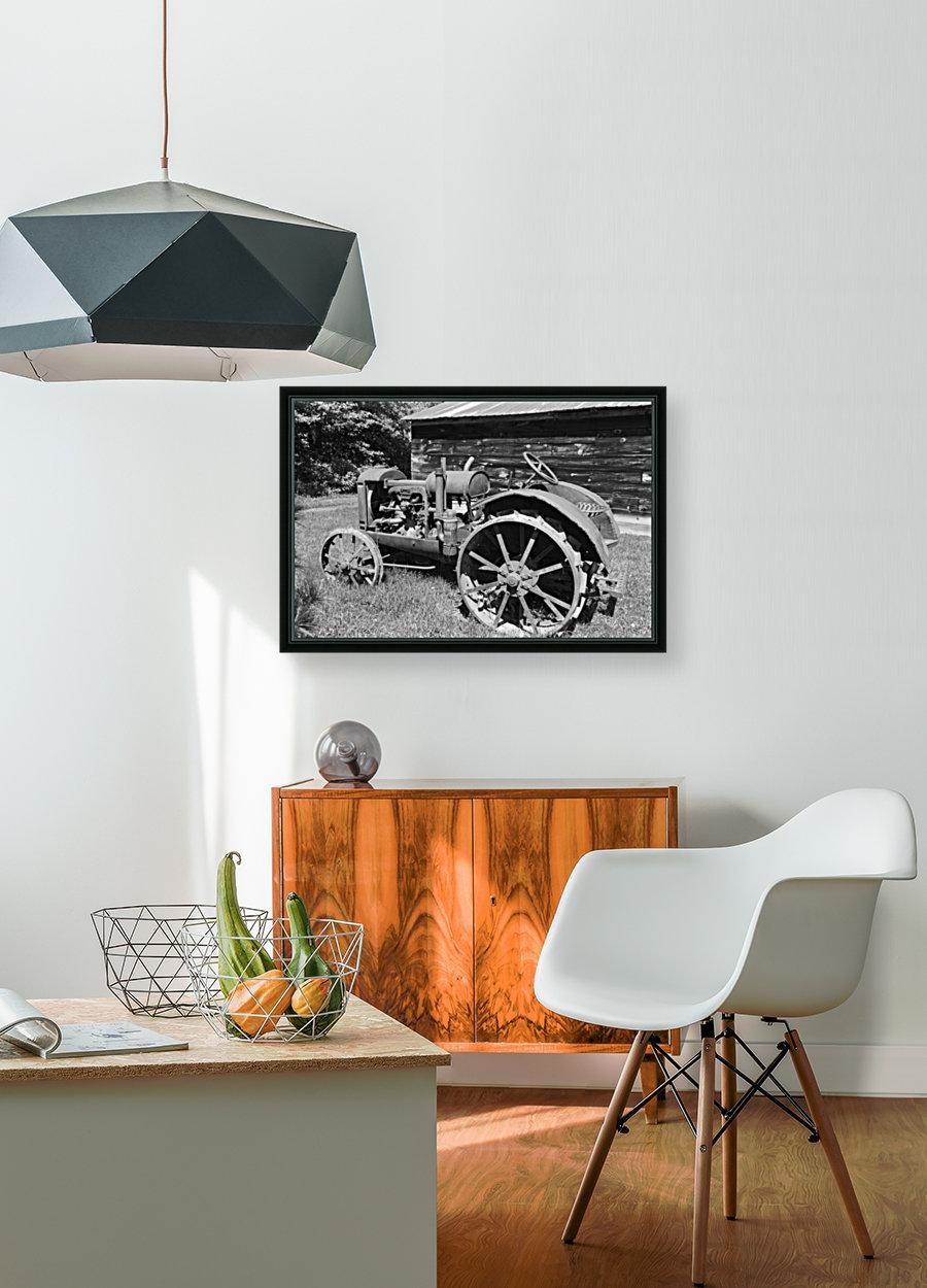 McCormick-Deering gasoline tractor 2 B&W  Art
