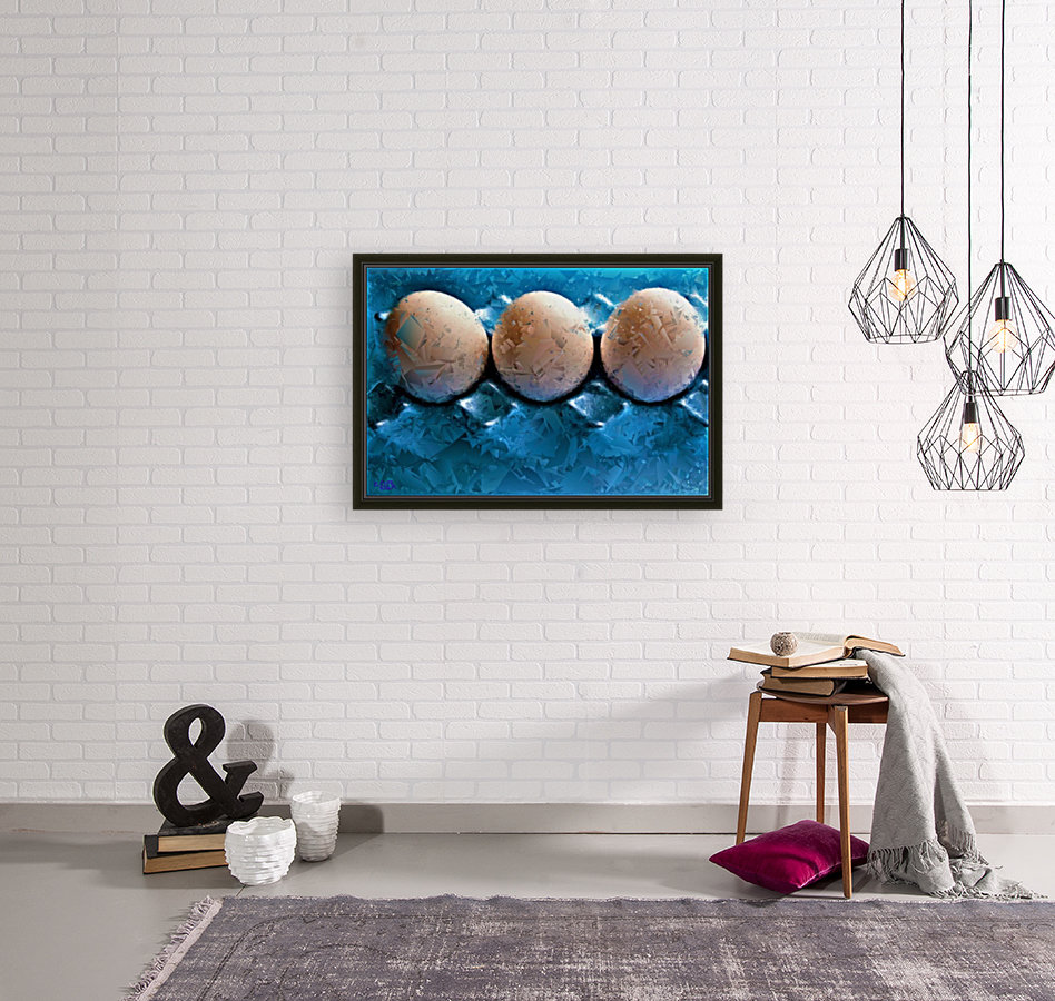 Worlds Most LIKED Eggs  - by Neil Gairn Adams  with Floating Frame