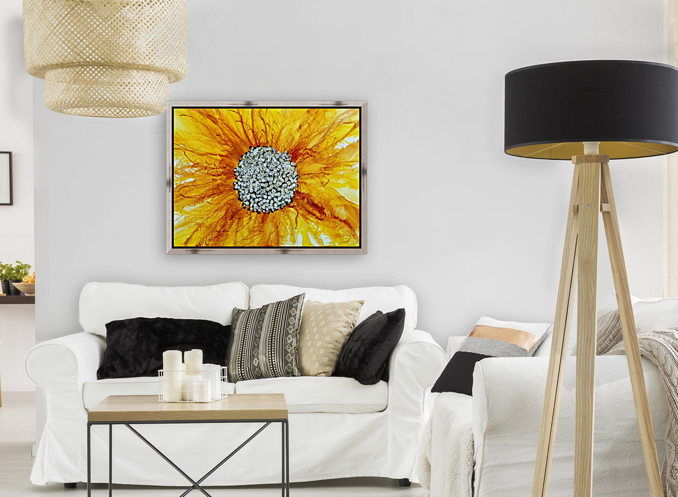 Sunflower with Floating Frame