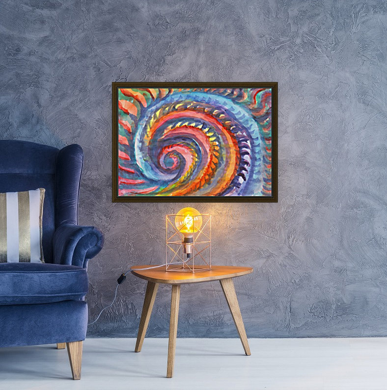 Watercolor abstract spiral staircase  Art