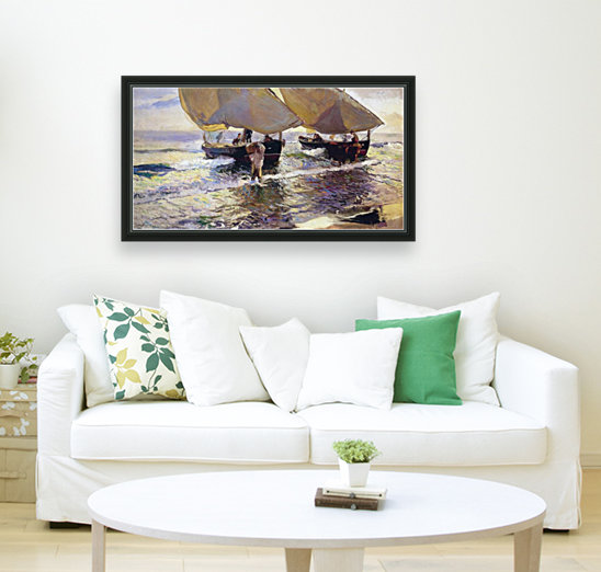 The arrival of the boats  Art