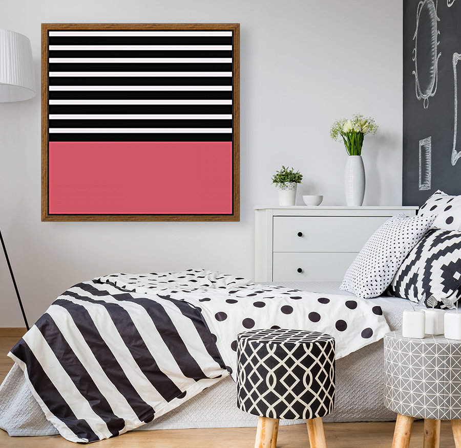 Black & White Stripes with Bitter Sweet Patch  Art