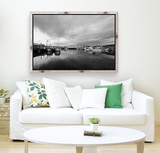 Monochrome harbor with Floating Frame