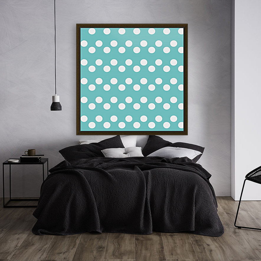 Dark Slate Gray Polka Dots with Floating Frame