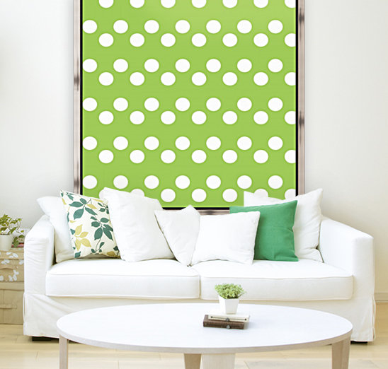 Dark Olive Green Polka Dots  Art
