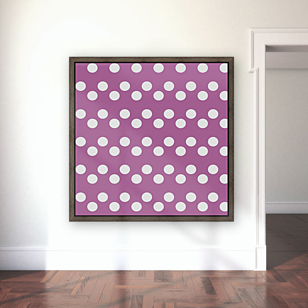 Bodacious Polka Dots with Floating Frame