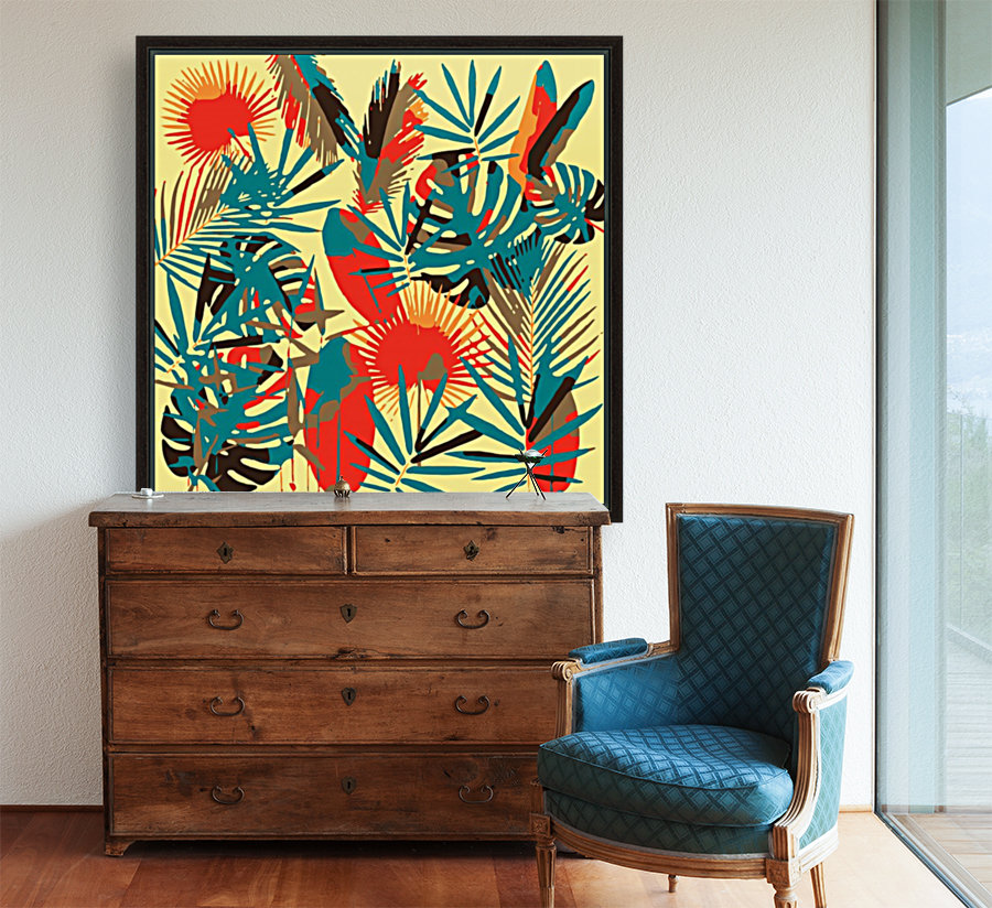 Colorful Abstract Tropical Leaves   Art