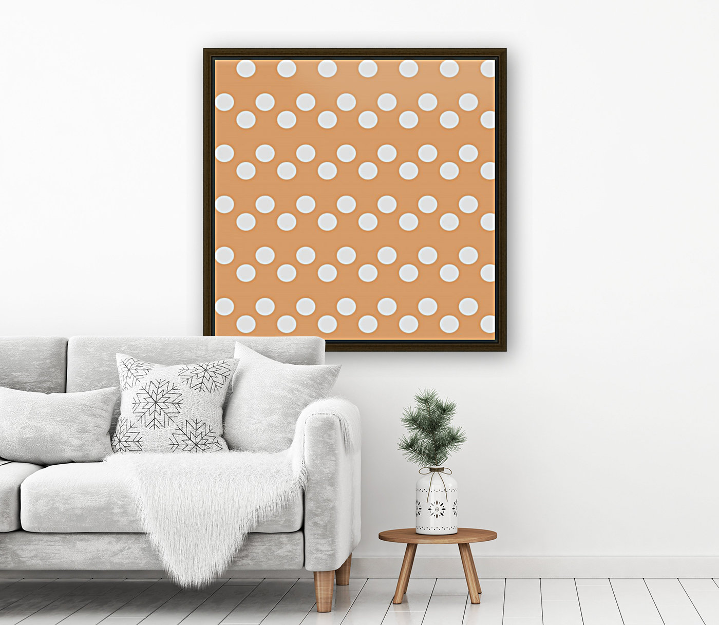 Sandy Brown Polka Dots  Art